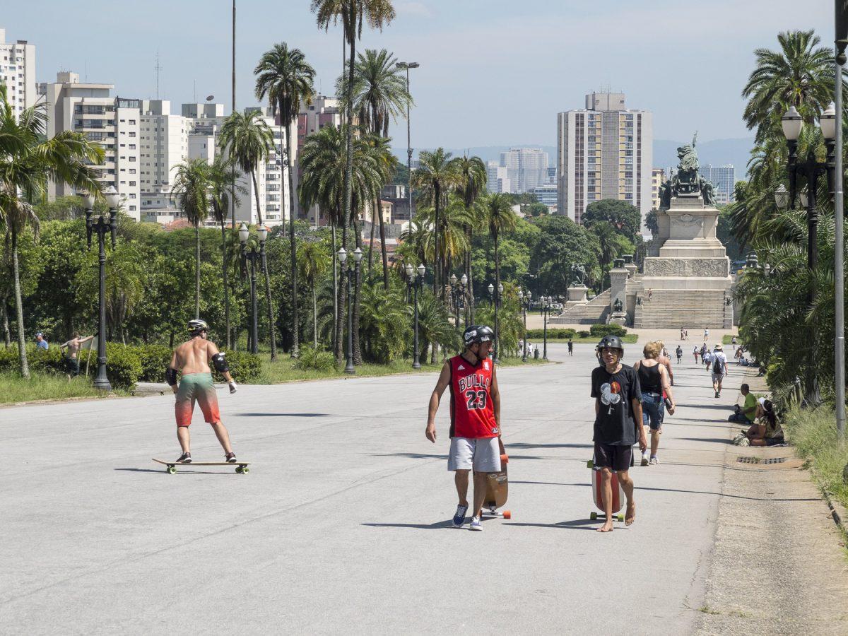 Skater im Parque da Independência