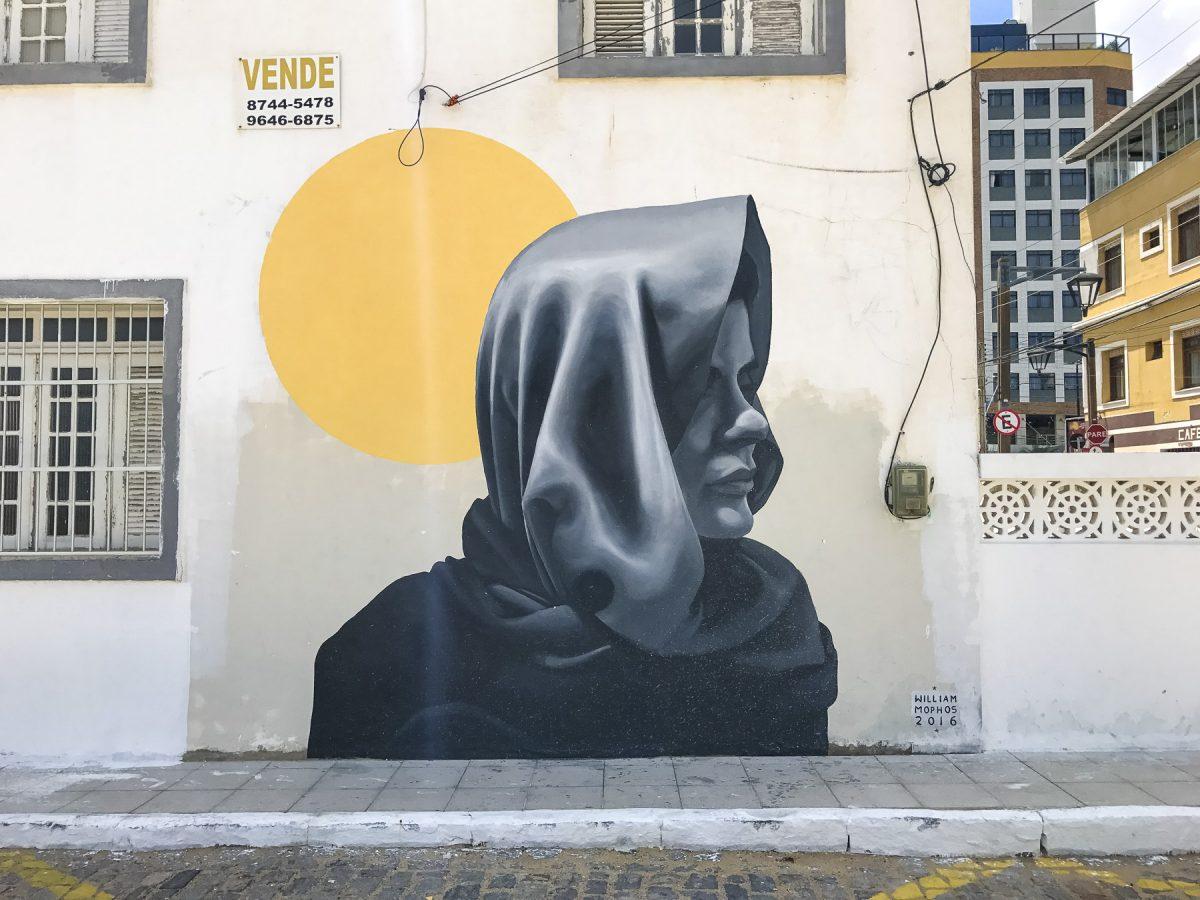 Schönes Wandbild in Fortaleza