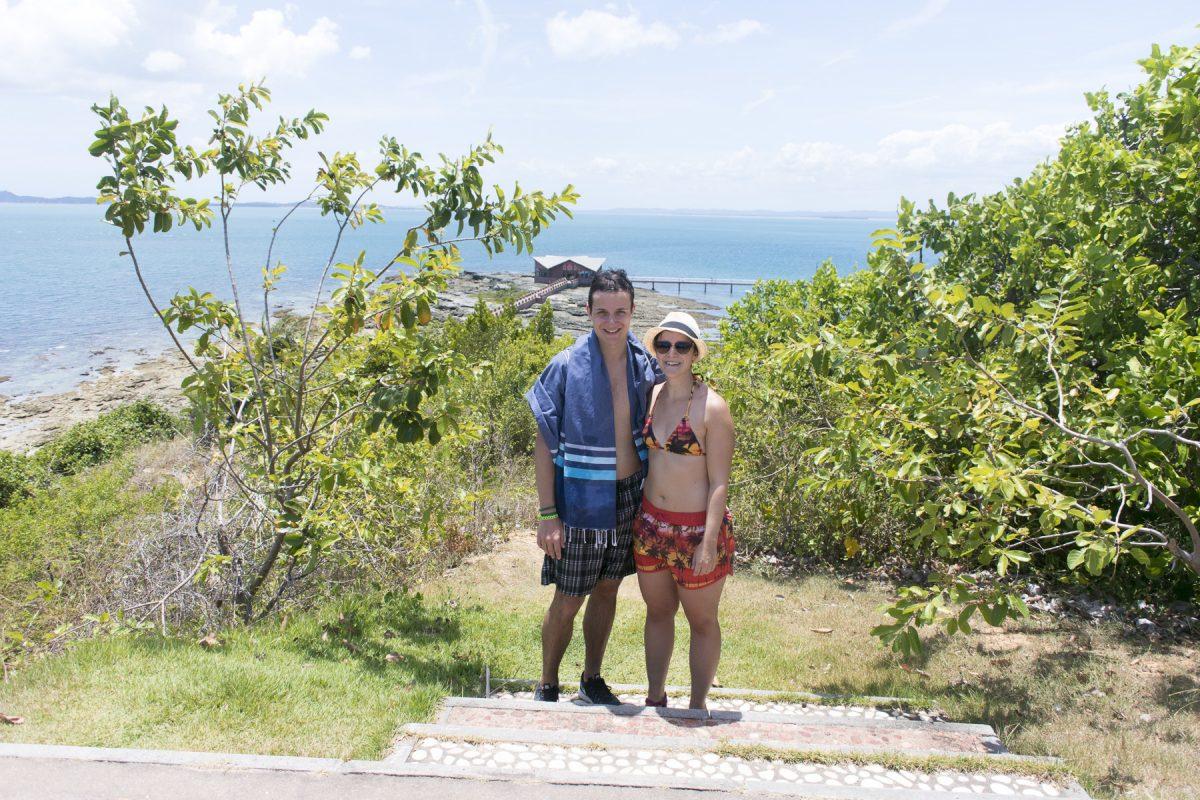 Michael und Marina auf der Ilha dos Frades