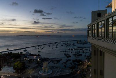 Hafen von Salvador in Abendstimmung