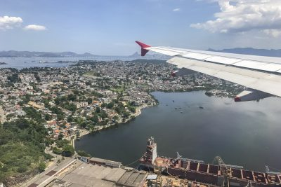 Anflug auf Rio de Janeiro
