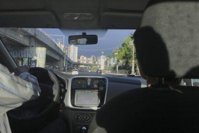 Im Uber nach zum Appartment