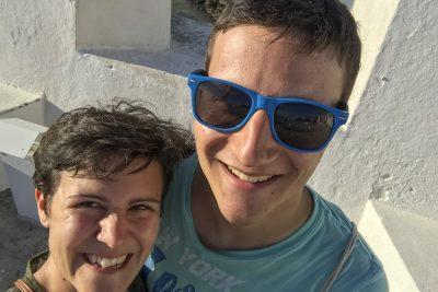 Marina und Michael am Strand in Barra, Salvador
