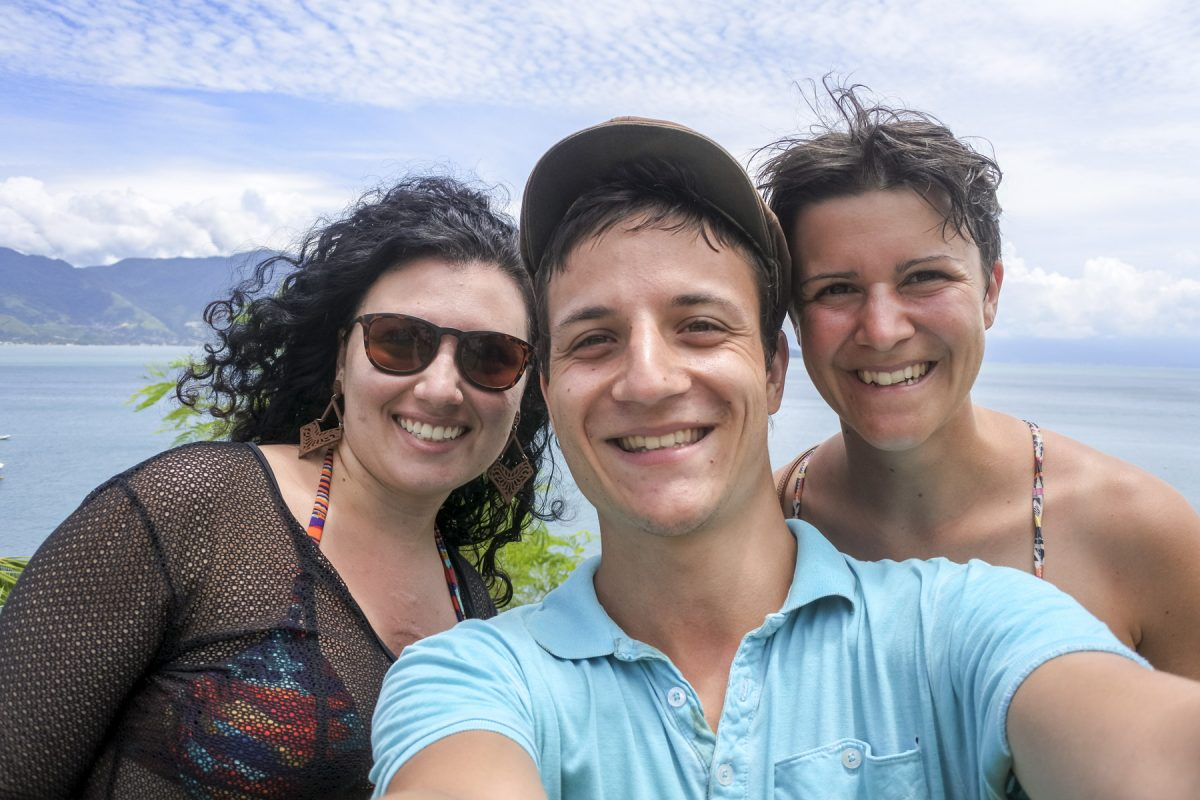 Margherida, Michael und Marina, Ilhabela