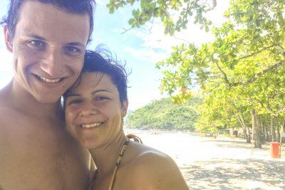 Die beiden «M» am Praia de Castelhanos