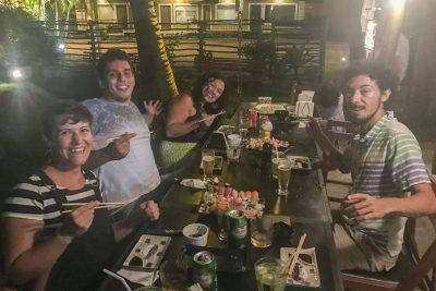 Sushi als Geburtstagsznacht