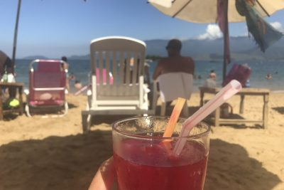 Himbeer-Caipirinha Praia do Julião Ilhabela