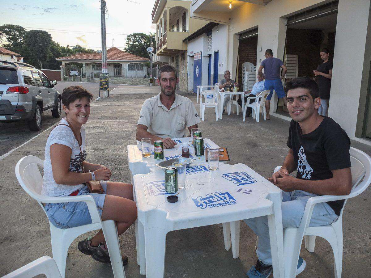 In São Gonçalo do Sapucaí mit Alessandro (Mitte) und Augusto (rechts)
