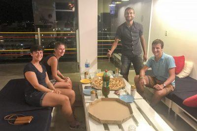 Pizza mit unseren deutschen Zimmergspändli