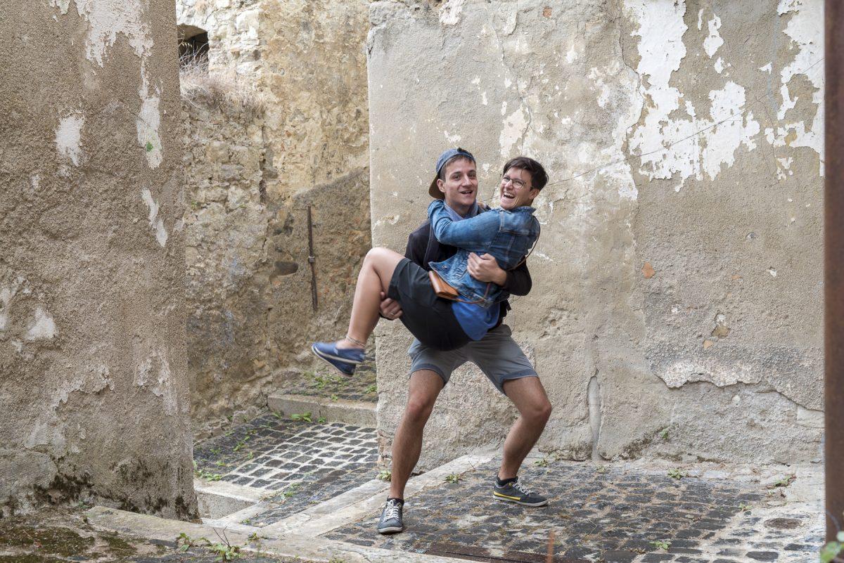 Michael und Marina in der Altstadt von Calitri