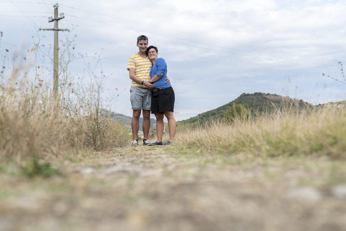 Wir am Lago di Conza, Italien