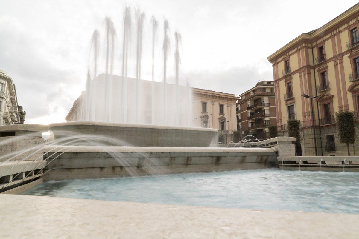 Springbrunnen in Avellino, Italien