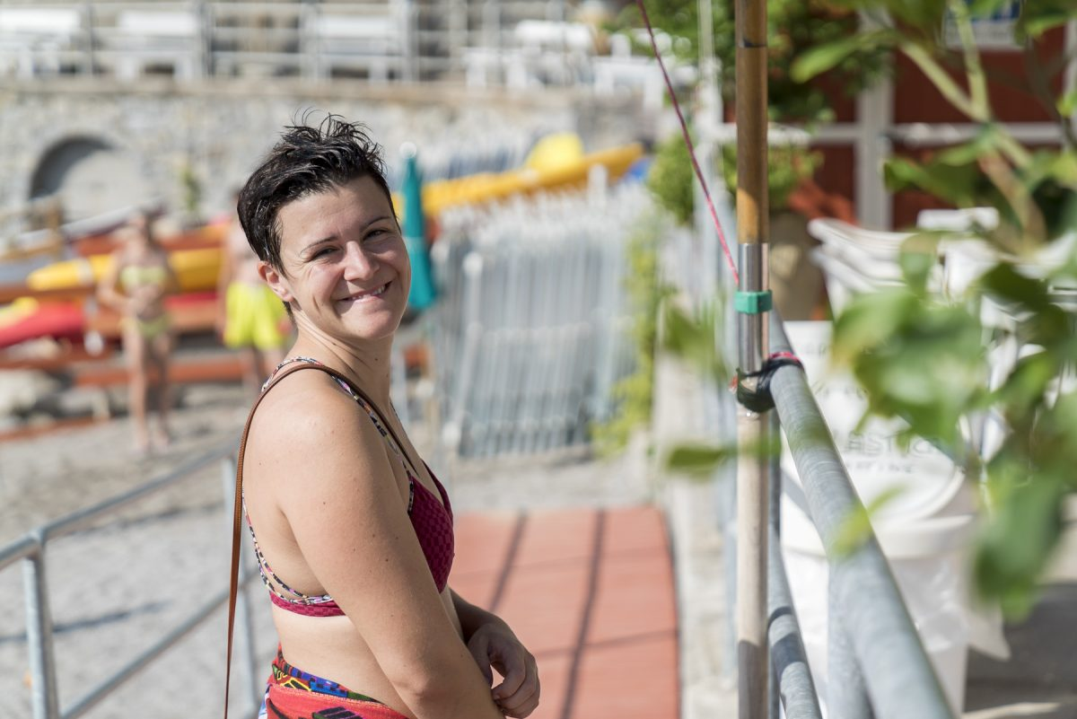 Marina am Strand in Erchie, Italien