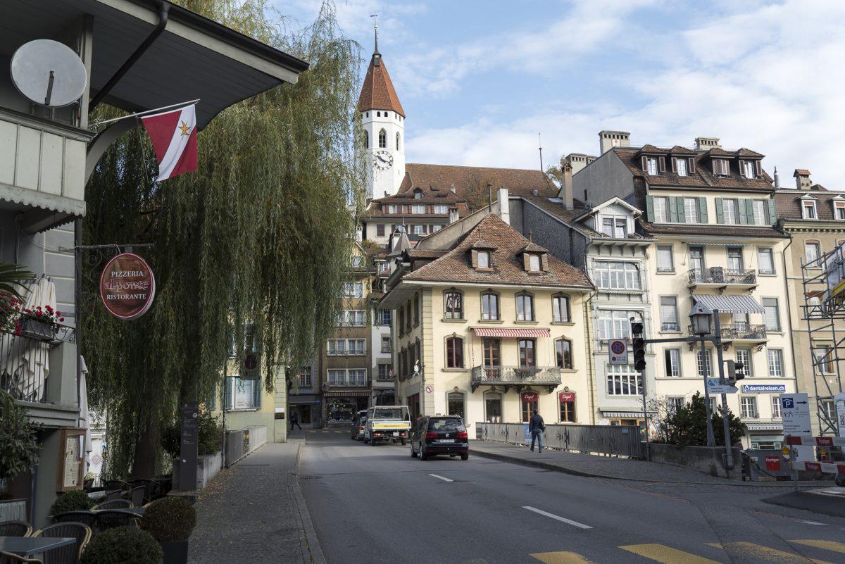 Blick auf die Altstadt von Thun