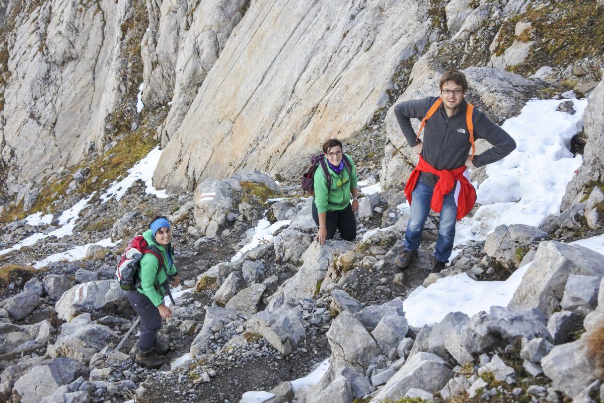 Aufstieg zum Berggasthaus Tierwis