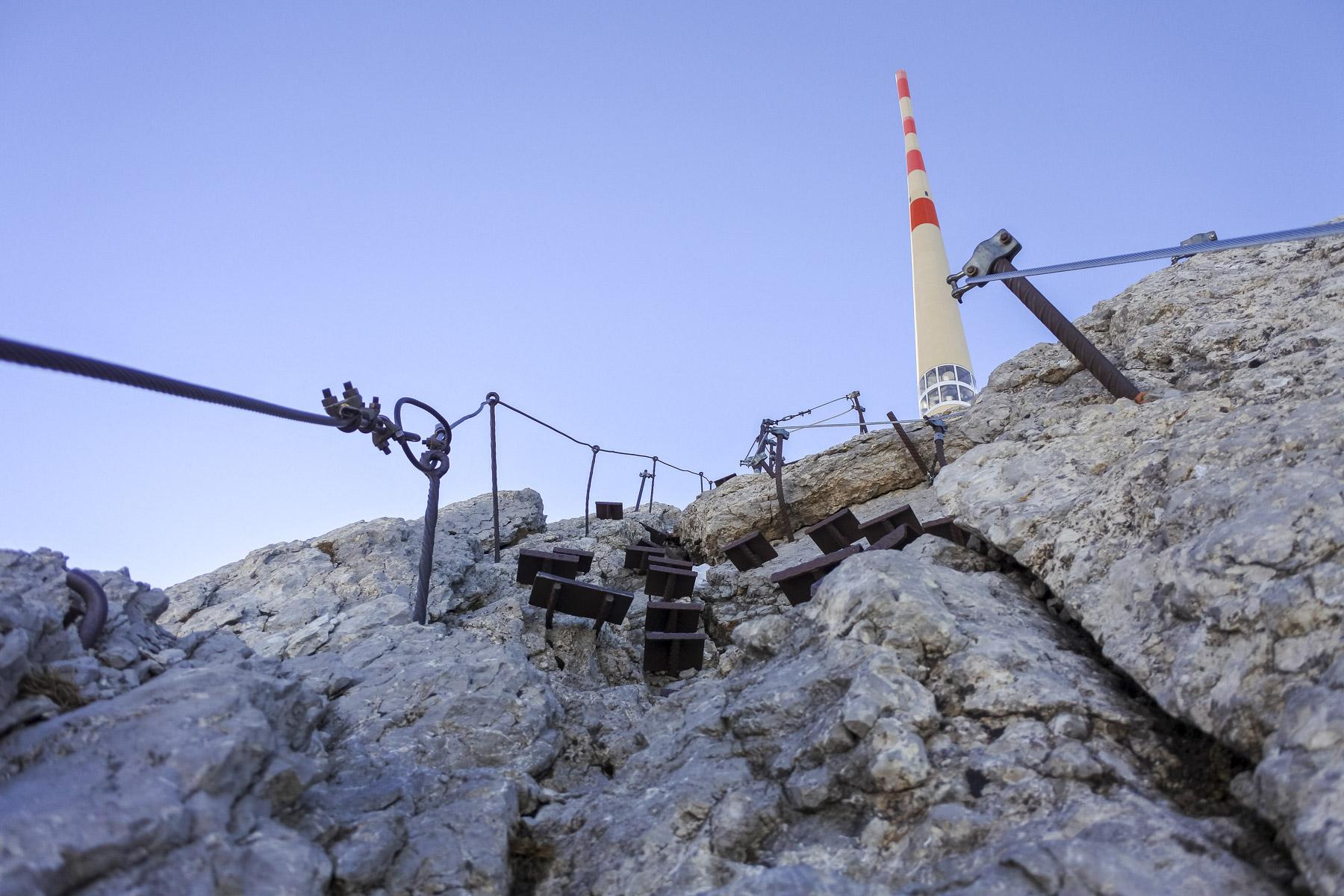 Die Himmelsleiter zum Gipfel des Säntis