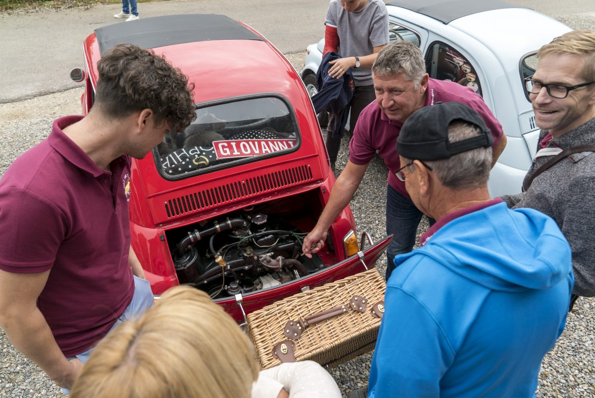 Fachsimpeln… Herbstausfahrt Fiat 500 Club