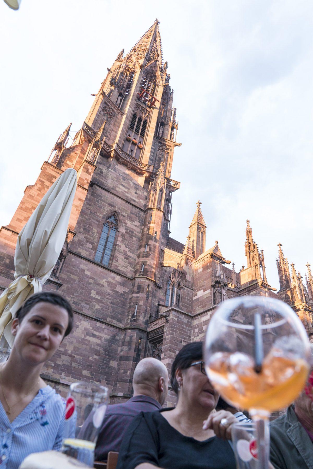Apéro gleich beim Freiburger Münster