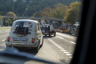 Spuren wechseln im Stadtverkehr…